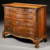 Ларь-комод для документов и инструментов, из вишневого дерева и махагона, Чиппендейл